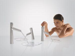 Armaturen von Markenherstellern bieten den vollen Wassergenuss und sind gleichzeitig sparsam im Verbrauch. Foto: Hansgrohe