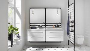 Badmöbel sind wesentliche Gestaltungselemente in einem Bad. Foto: Burgbad.